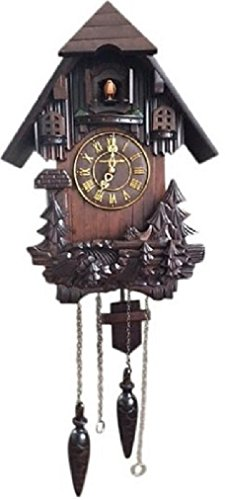 Wall cuckoo clocks vmarketingsite black forest wooden cuckoo clock black for ebay - Cuckoo bird clock sound ...