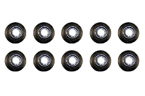 Axial AXA1045 Nylon Locknut (10-Piece), M4, Black