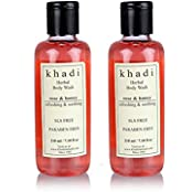 Khadi Rose And Honey Body Wash- Sls & Paraben Free - 210ml (Set Of 2)