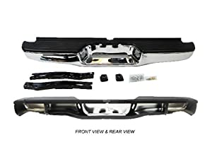 TKY TY40342C Toyota Tacoma Chrome Replacement Complete Rear Bumper