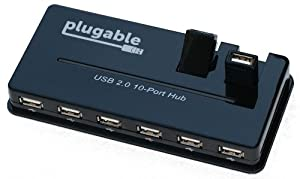 Plugable USB 2.0 10 Port Hub (12.5W Power Adapter)