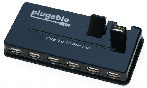 Plugable USB 2.0 10 Port Hub (with Power Adapter)