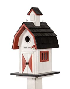 Le Petit Chalet LPC-22118RWB Barn Bird House - Red, White and Black