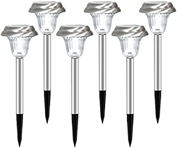 6-pack Ohuhu Stainless Steel Solar Garden Lights