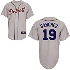 Anibal Sanchez Detroit Tigers Road Replica Jersey by Majestic by Majestic