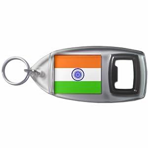 India Flag - Botella plástica del anillo dominante del abrelatas