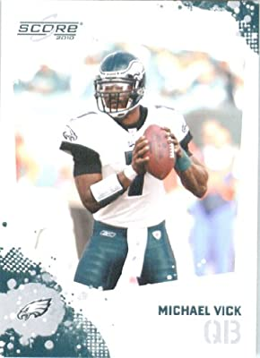 SUPER HOT -- In His Eagle Uniform - Michael Vick - Philadelphia Eagles - 2010 Score Football Card - NFL Trading Card in Screwdown Case