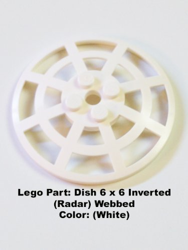 Lego Parts: Dish 6 x 6 Inverted (Radar) Webbed (White) - 1