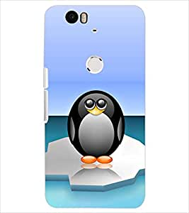 PrintDhaba PENGUIN D-6505 Back Case Cover for HUAWEI NEXUS 6P (Multi-Coloured)