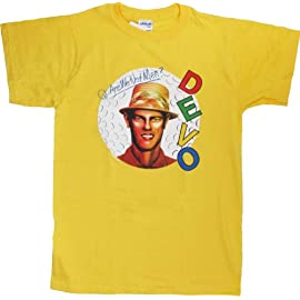 DEVO T-Shirt 'Are We Not Men' Yellow Tee