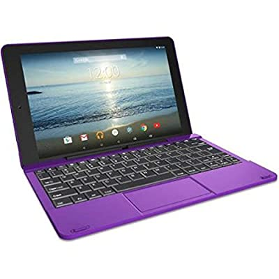 """RCA Viking Pro 10.1"""" 2-in-1 Tablet 32GB Quad Core Purple Laptop Computer with Touchscreen and Detachable Keyboard Google Android 5.0 Lollipop"""