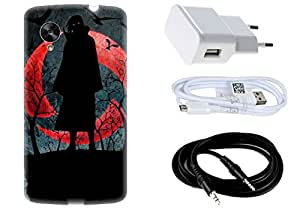 Spygen Spygen LG Google NEXUS 6 Case Combo of Premium Quality Designer Printed 3D Lightweight Slim Matte Finish Hard Case Back Cover + Charger Adapter + High Speed Data Cable + Premium Quality Aux Case Combo of Premium Quality Designer Printed 3D Lightweight Slim Matte Finish Hard Case Back Cover + Charger Adapter + High Speed Data Cable + Premium Quality Aux
