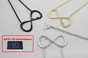 4pcs One Direction Necklace Infinite Sign 1d Harry's Paper Airplane Pendant Charms by Necklace
