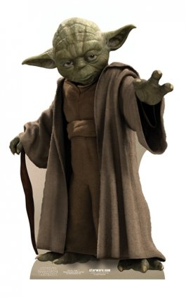 Star Cutouts Ltd Cartonato di Yoda