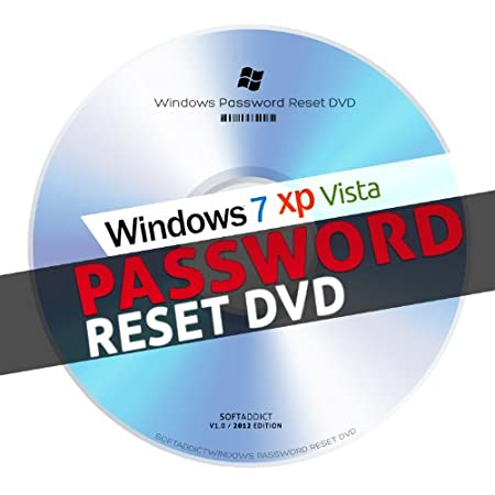 Windows Password Reset for PC - Laptop Running Windows 7 / XP / Vista / 98 (32bit & 64bit systems)