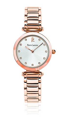 Pierre Lannier - 042G929 - Elegance Style - Montre Femme - Quartz Analogique - Cadran Argent - Bracelet Acier plaqué Rose