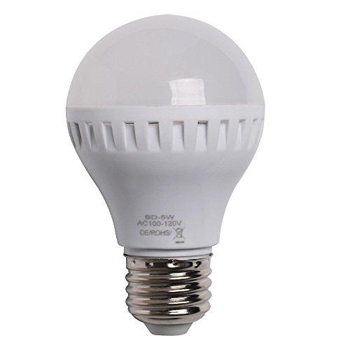Jambo E26 LED Light Bulb 5W 330 Lumen Daylight (3 Pack) (40 Watt Bathroom Lightbulbs compare prices)