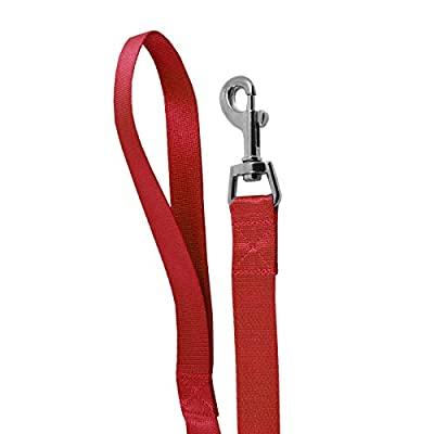 UniversalGadgets Strong Nylon Dog Pet Lead Leash with Clip for Collar Harness - Red