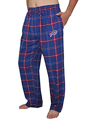 Buffalo Bills NFL Mens Fall / Winter Plaid Sleepwear / Pajama Pants