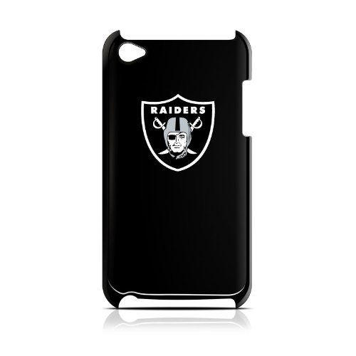 NFL Oakland Raiders Varsity Jacket Hardshell Case for iPod Touch 4G, Black, 4.4x2.4-Inch at Amazon.com