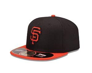 MLB San Francisco Giants Batting Practice 59Fifty Baseball Cap, Black Orange by New Era