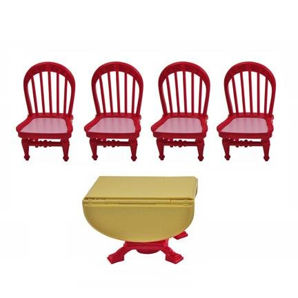 Fisher Price Loving Family Dollhouse TABLE & CHAIRS REPLACEMENT Home for Holidays