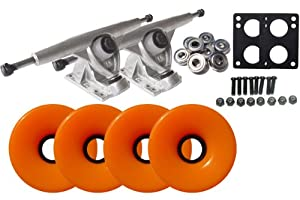 Randal 150 LONGBOARD TRUCKS Package 76mm S.ORANGE Wheels Abec 7