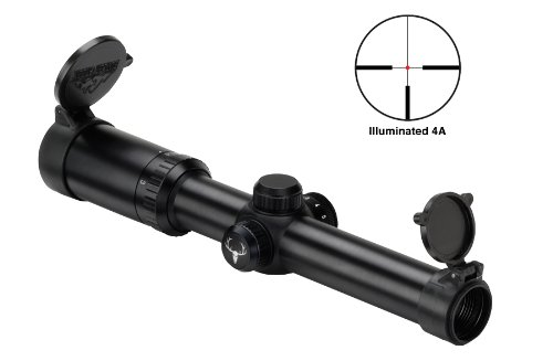 Bushnell Trophy Xlt 1-4X24 Riflescope Illuminated 4A Reticle Matte With Free Purchasecorner Microfiber Cleaning Cloth.