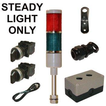 Led Tower Light Station Kit, 120V, Red/Green, Off/Steady