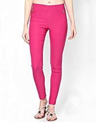 ELLIS Cotton Lycra Pink Jeggings Form Women