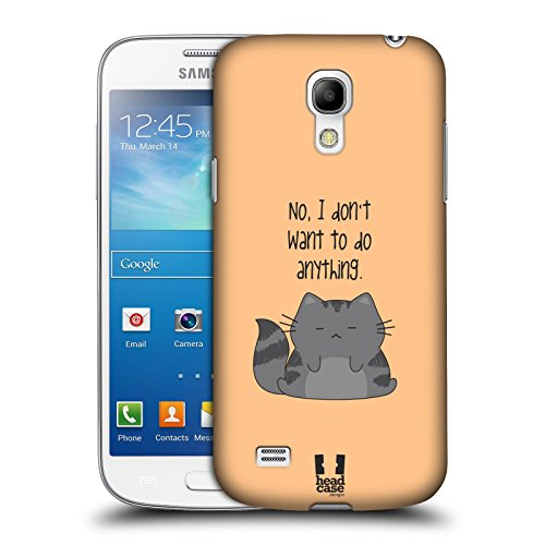 Head Case Designs Do Nothing Wilbur the Cat Protective Snap-on Hard Back Case Cover for Samsung Galaxy S4 mini I9190 Duos I9192