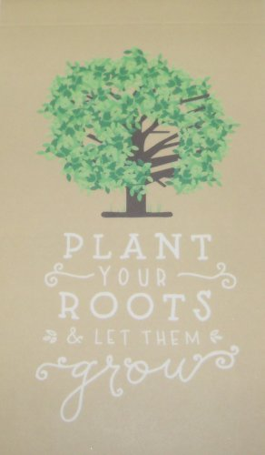 "Eccolo World Traveler Top Flipping Journal or Memo Pad (Plant Your Roots; 3"" x 5"")"