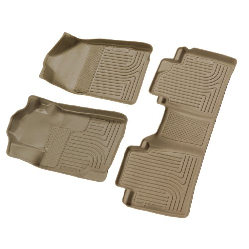 Husky Liners 98513 Tan Custom Fit Front and Second Seat Floor Liner Set