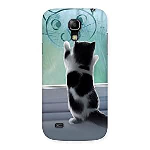 Enticing Cute Kitty Face Print Back Case Cover for Galaxy S4 Mini