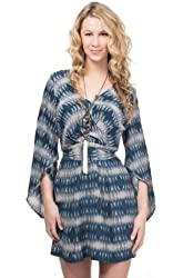 Charlie Jade Women's Printed Silk Kimono Dress