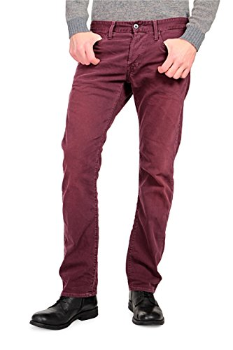 Replay Jeans Stretti WAITOM, uomo, Colore: Rosso Bordeaux, Taglia: 34/34