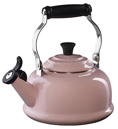 Le Creuset Enamel on Steel Whistling Tea Kettle, 1-4/5-Quart, Hibiscus (Tea Kettle Whistling Le Creuset compare prices)