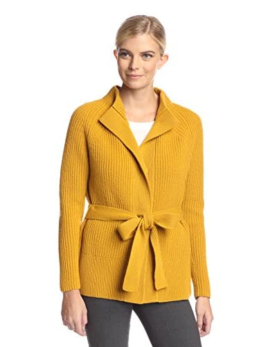 Lafayette 148 New York Women's Ribbed Funnel Neck Cardigan