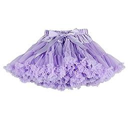 Buenos Ninos Girl\'s Solid Color Dance Tutu Pettiskirt 1-10T Lavender