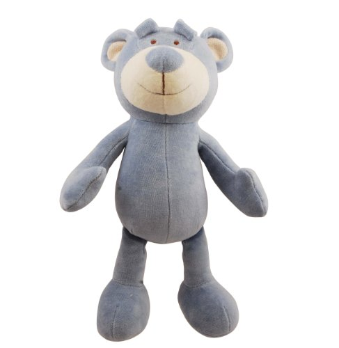Picture Simply Fido Wally 10-Inch Blue Bear Squeakers Dog Toy