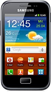 Samsung Galaxy Ace Plus S7500 Smartphone (9,3 cm (3,7 Zoll) Touchscreen, 5 Megapixel Kamera, Android 2.3) dark-blue