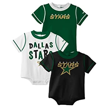 NHL Infant Dallas Stars Team Color 3Pc Creeper Set - R52Njcii (Multi, 12 Months)