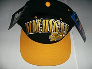 VINTAGE STARTER 100% WOOL MICHIGAN WOLVERINES SNAP BACK HAT CAP NWT by STARTER