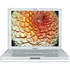 Apple iBook G4, 1.33 GHz, 768MB RAM, 40 GB Hard Drive, Internal Combo Drive, 56k Modem