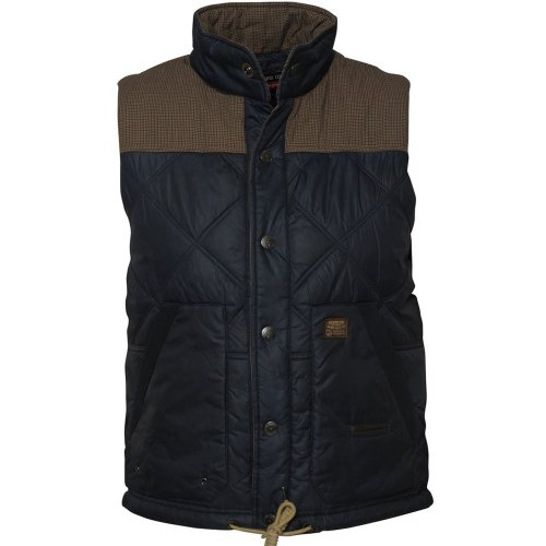Duck And Cover Duck and Cover Bailey gilet blue black Blue Black 2XL