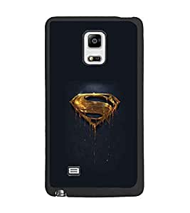 PrintDhaba Superman Logo D-2010 Back Case Cover for SAMSUNG GALAXY NOTE 4 (Multi-Coloured)