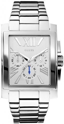 GUESS Men's U0009G1 Silver-Tone Classic Dress Watch