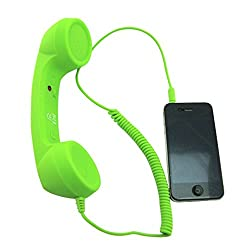 BMS Highsound 3.5mm Interface Anti-radiation Telephone Receiver Style Wired Cellphone Headsets for iPad iPhone 6 Plus/6/5S/5/4S/4 (Green)