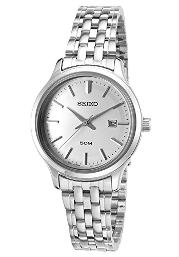 Seiko Watches Womens Neo Classic Stainless Steel Watch (Silver)