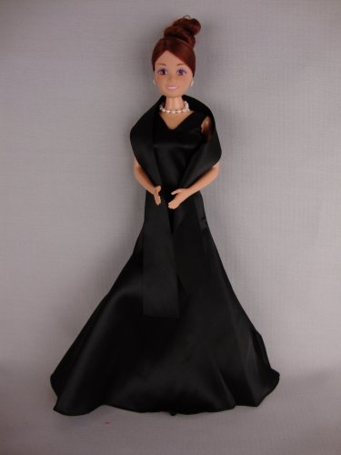 41uG07D%2BlTL Cheap Buy  Black Evening Gown with Shawl 2010 Holiday Barbie Contest Winner Limited Edition